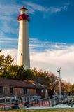开普梅点灯塔,在开普梅,新泽西 库存照片