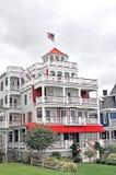 开普梅:海滩前的旅馆 免版税图库摄影