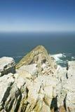 开普角,好望角看法,在开普敦,南非境外印度洋的合流的正确和大西洋Oce的 库存照片