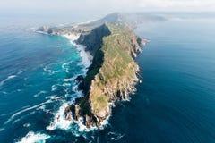 开普角& x28; 南非& x29;鸟瞰图 免版税库存图片