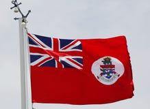 开曼群岛或海开曼群岛旗帜的民用少尉 免版税库存照片