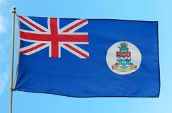 开曼群岛旗帜 免版税库存照片
