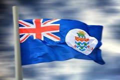 开曼群岛旗帜 免版税库存图片