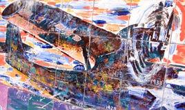 开曼群岛的历史的壁画 免版税库存图片