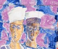 开曼群岛的历史的壁画 图库摄影