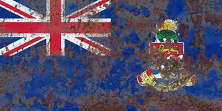 开曼群岛难看的东西旗子,英国海外领土, Britai 免版税库存照片