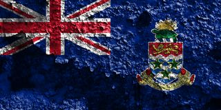 开曼群岛难看的东西旗子,英国海外领土, Britai 免版税库存图片