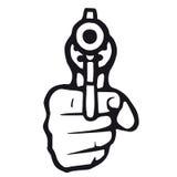 开枪向量 免版税库存图片