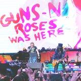 开枪在音乐会的n玫瑰 免版税图库摄影