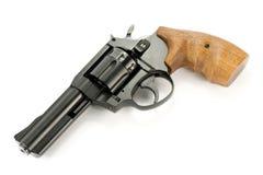 开枪左轮手枪 库存照片