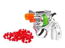 开枪微型粉末玩具 免版税库存图片