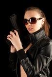 开枪性感的妇女 免版税库存图片