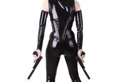 开枪性感的妇女 免版税库存照片
