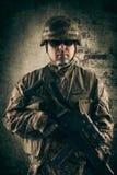 开枪新的战士 免版税库存图片