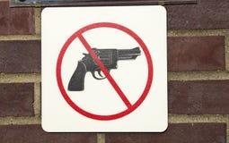 开枪没有允许的 免版税库存图片
