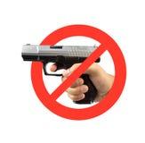 开枪没有 免版税图库摄影