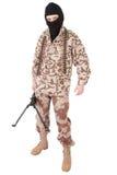 开枪设备战士 免版税图库摄影