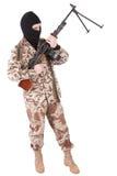 开枪设备战士 图库摄影