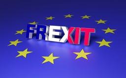 离开欧盟的法国 库存例证
