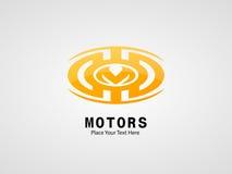 开汽车发光的橙色颜色的企业标志 免版税图库摄影