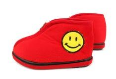 开玩笑兴高采烈红色的鞋子 免版税库存图片