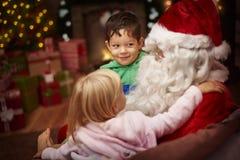 开玩笑圣诞老人 库存图片