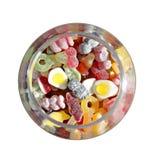 开玩笑在瓶子的偏爱的甜点 免版税库存图片