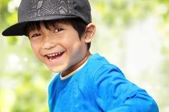 开玩笑微笑对照相机 免版税图库摄影