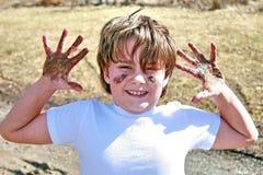 开玩笑泥泞的春天 库存照片