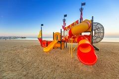 开玩笑海滩的操场 免版税库存照片