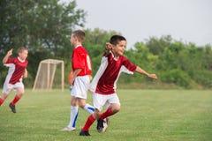 开玩笑足球比赛 免版税图库摄影