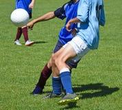 开玩笑足球比赛 免版税库存照片