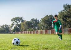 开玩笑足球 免版税库存照片