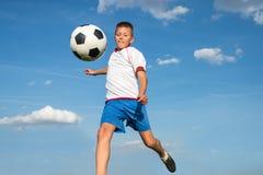 开玩笑足球 免版税图库摄影