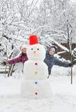 开玩笑雪人 图库摄影
