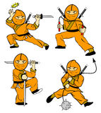 开玩笑ninja 库存照片