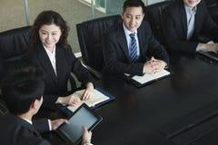 开的商人会议 免版税库存照片