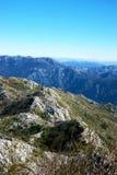 离开的山岭地区在黑山 免版税库存照片