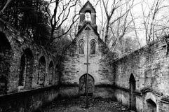 离开的教会 库存图片