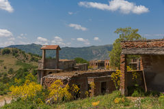 离开的村庄西西里岛 库存照片