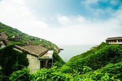 离开的海村庄2 库存图片