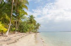 离开的海滩在巴拿马 免版税库存照片