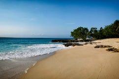离开的海滩美丽 库存照片