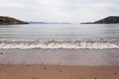 离开的海滩, Inishowen, Donegal,爱尔兰 免版税图库摄影