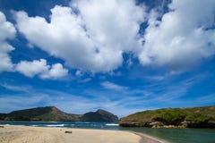 离开的海滩 免版税库存照片