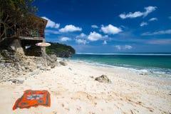 离开的海滩 免版税库存图片