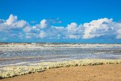 离开的海滩 图库摄影