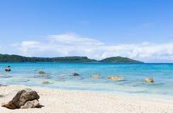 离开的热带海滩天堂,冲绳岛,日本 免版税图库摄影
