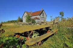 离开的老农庄 图库摄影