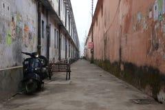 离开的街道 免版税库存图片